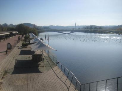 Modern waterfront, Mondego River, Coimbra