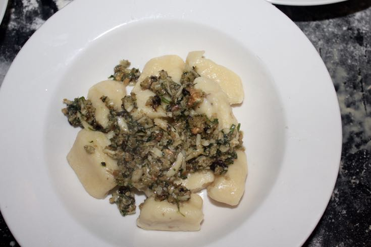Gnocci with Walnut Pesto