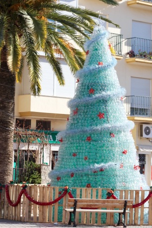 Recycled Bottle Christmas Tree, Loja, Spain