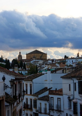 View towards church of the holy spirit, Ronda