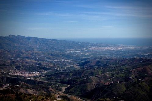 Comares, Andalucia, views of Velez Malaga and the costa