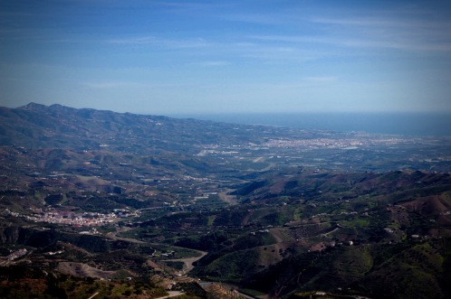 Comares, Andalucia, views of Velez Malaga and the costa