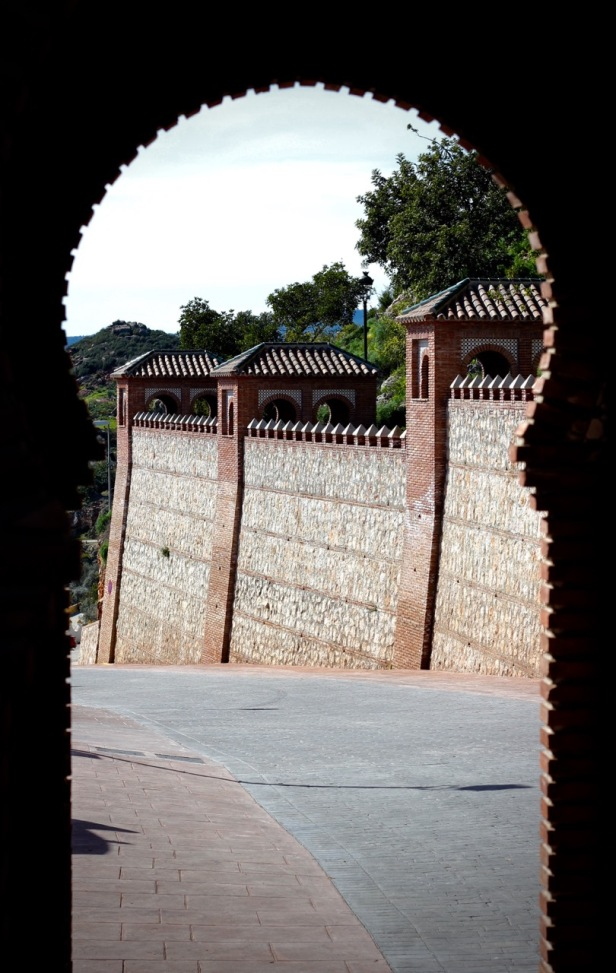 Entrance gates to Comares, Andalucia
