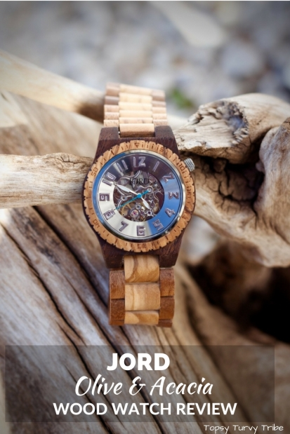 Jord Olive & Acacia Wood Watch Review by Topsy Turvy Tribe #jordwatch #woodwatch