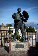 Music Man Statue, Comares, Andalucia