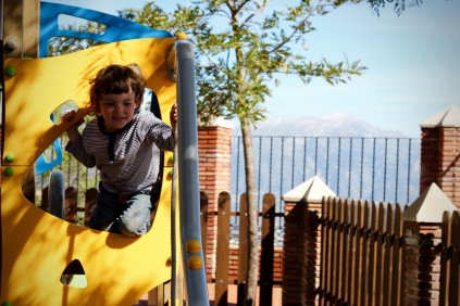 Playground near the entrance to Comares, Andalucia
