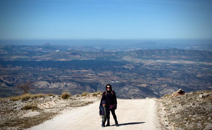 Sierra de Loja View of Huetor Tajar, Granada  Andalucia, Spain
