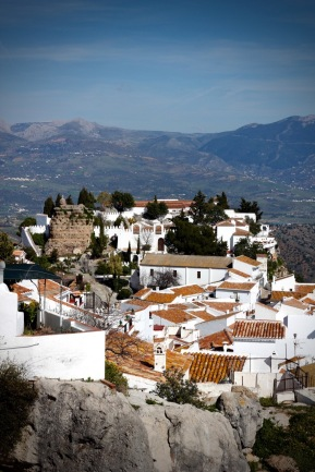 The hillside village of Comares, Andalucia