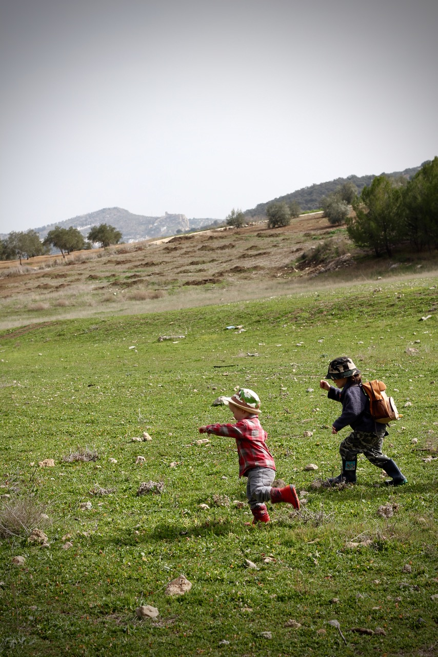 Boys Running by Topsy Turvy Tribe in Zagra, Granada, Andalucia, Spain