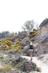 Going up Ruta del Gollizno Moclin Andalucia
