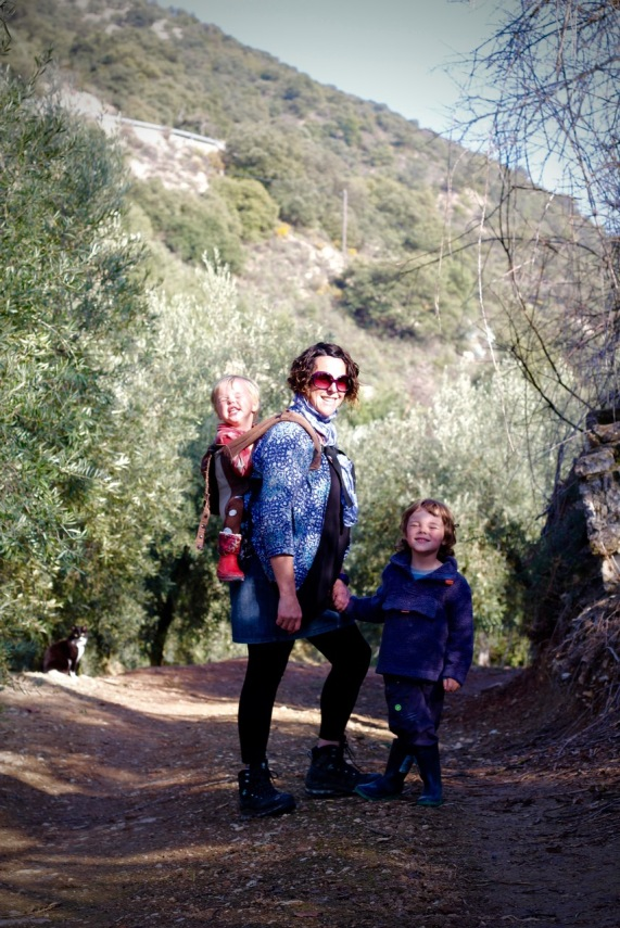 Mummy and boys enjoying a walk by Topsy Turvy Tribe