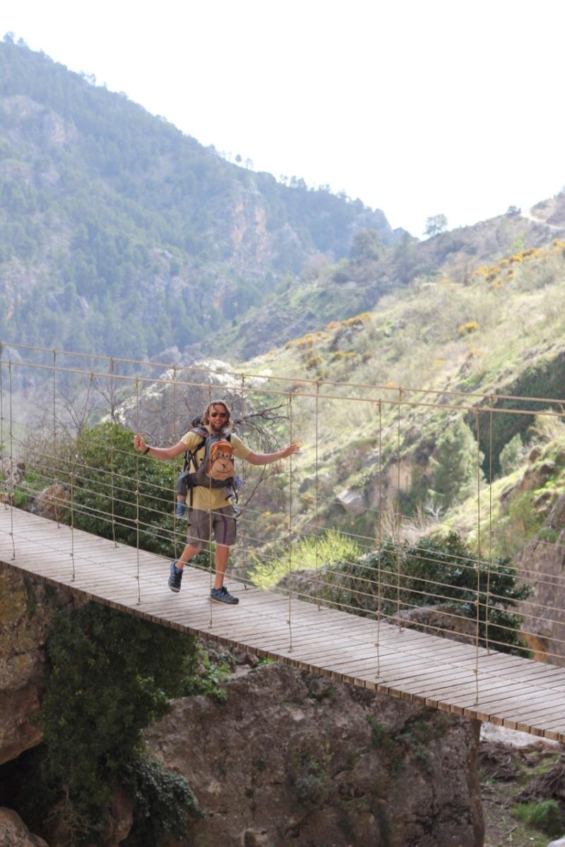 Puente Colgante Ruta del Gollizno