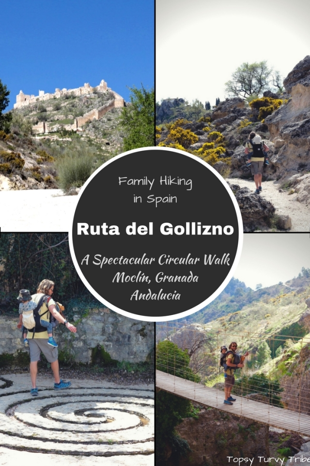 Ruta del Gollizno, A Spectacular Circular Walk in Moclin, Granada, Spain. Family Hiking with Topsy Turvy Tribe