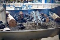 Sardines Malaga beach Andalucia
