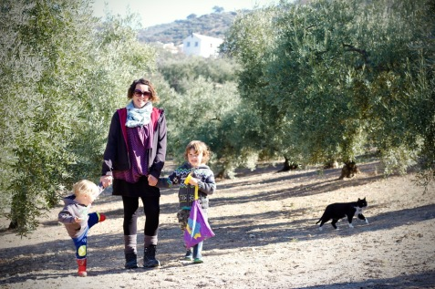 Walking & Hiking With Children Holding Hands & Being Supportive