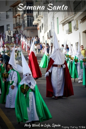 Semana Santa, Holy Week Processions and Traditions in Loja, Granada, Andalucia, Spain